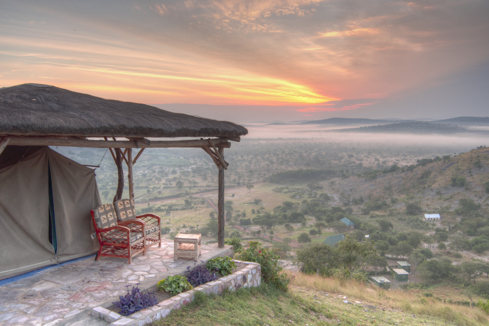 Eagle's Nest lodge in Mburo National Park