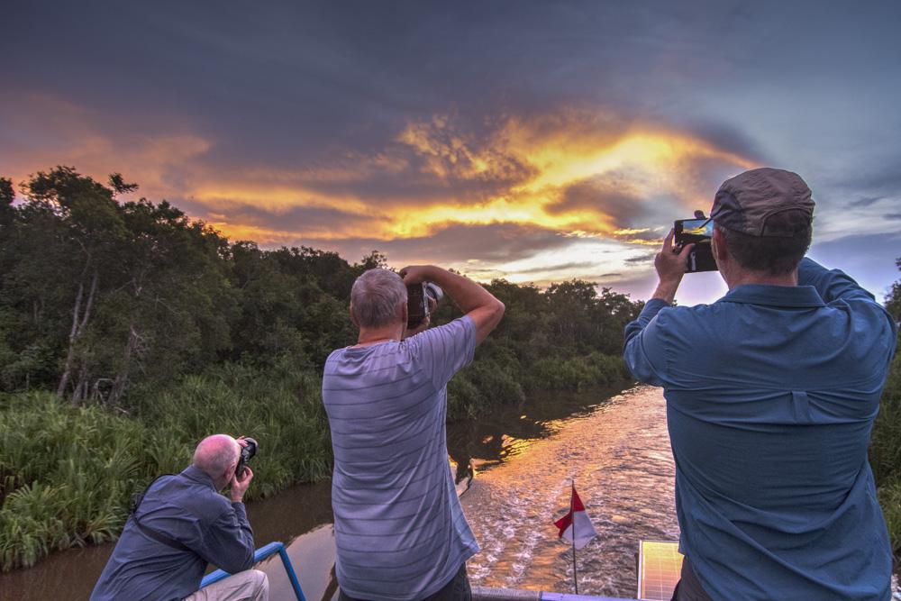 Sunset Borneo river
