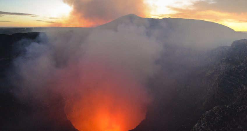 Masaya volcano night