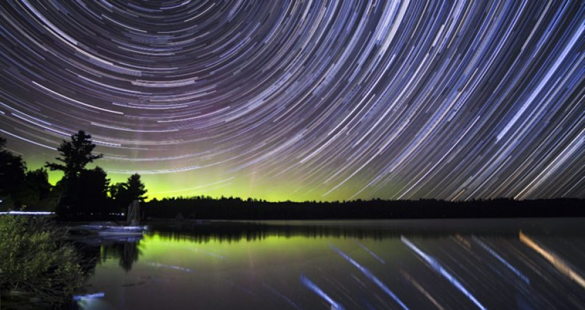 Star trails Algonquin Canada