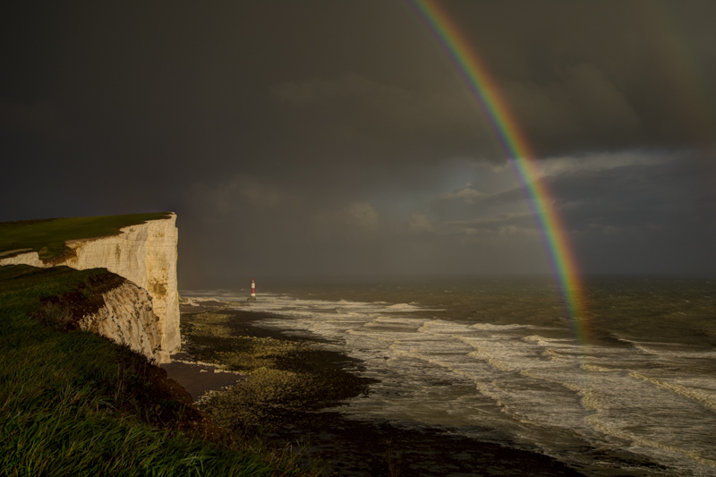 Rainbow Beachy Head Sussex landcape photo