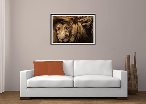 Lion mane print
