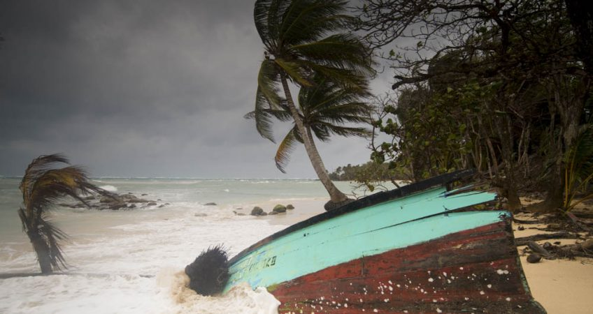 Little Corn island storm